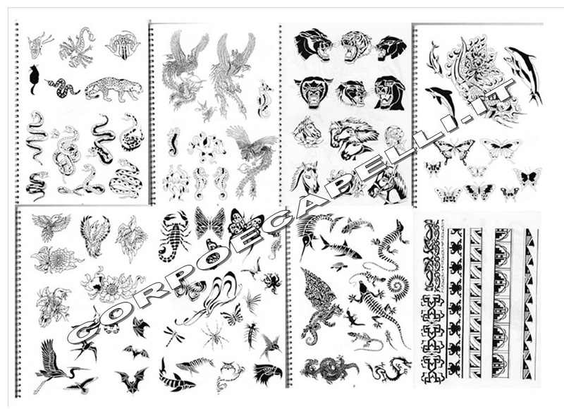Tattoo Book Libro Per Tatuaggi 425 Disegni Ebay