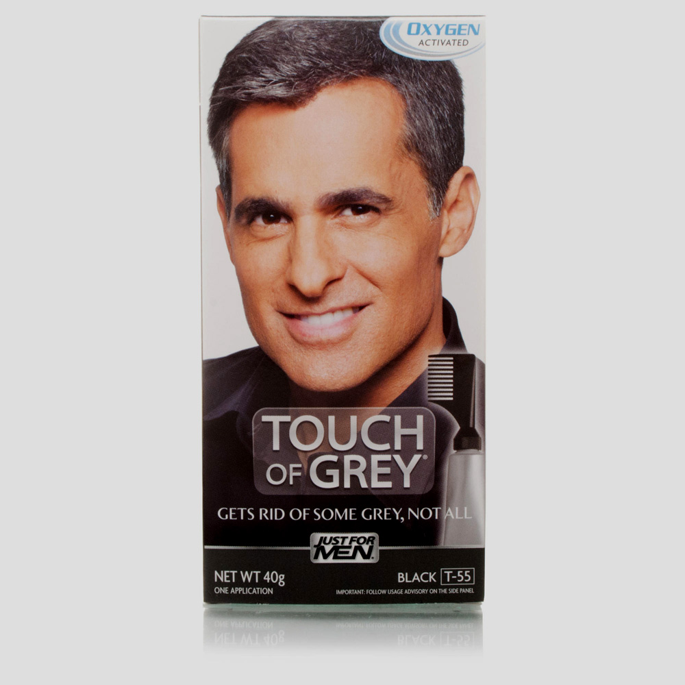 JUST FOR MEN TOUCH OF GREY TRATT. COLORANTE GRADUALE NERO 40ml