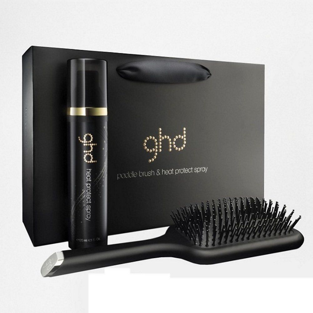 GHD KIT SPAZZOLA PADDLE BRUSH E SPRAY TERMOPROTETTIVO HEAT PROTECT SPRAY 120ml