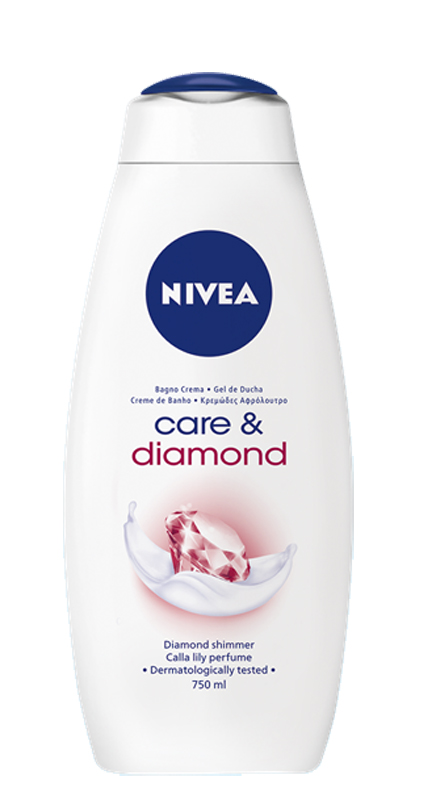 NIVEA BAGNO CREMA CARE E DIAMOND 750ml