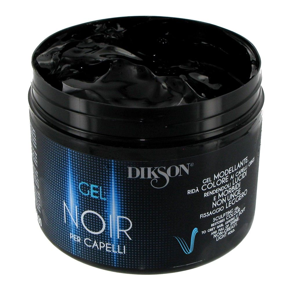 DIKSON GEL NOIR PER CAPELLI GEL MODELLANTE COLORANTE PER CAPELLI GRIGI 500ml