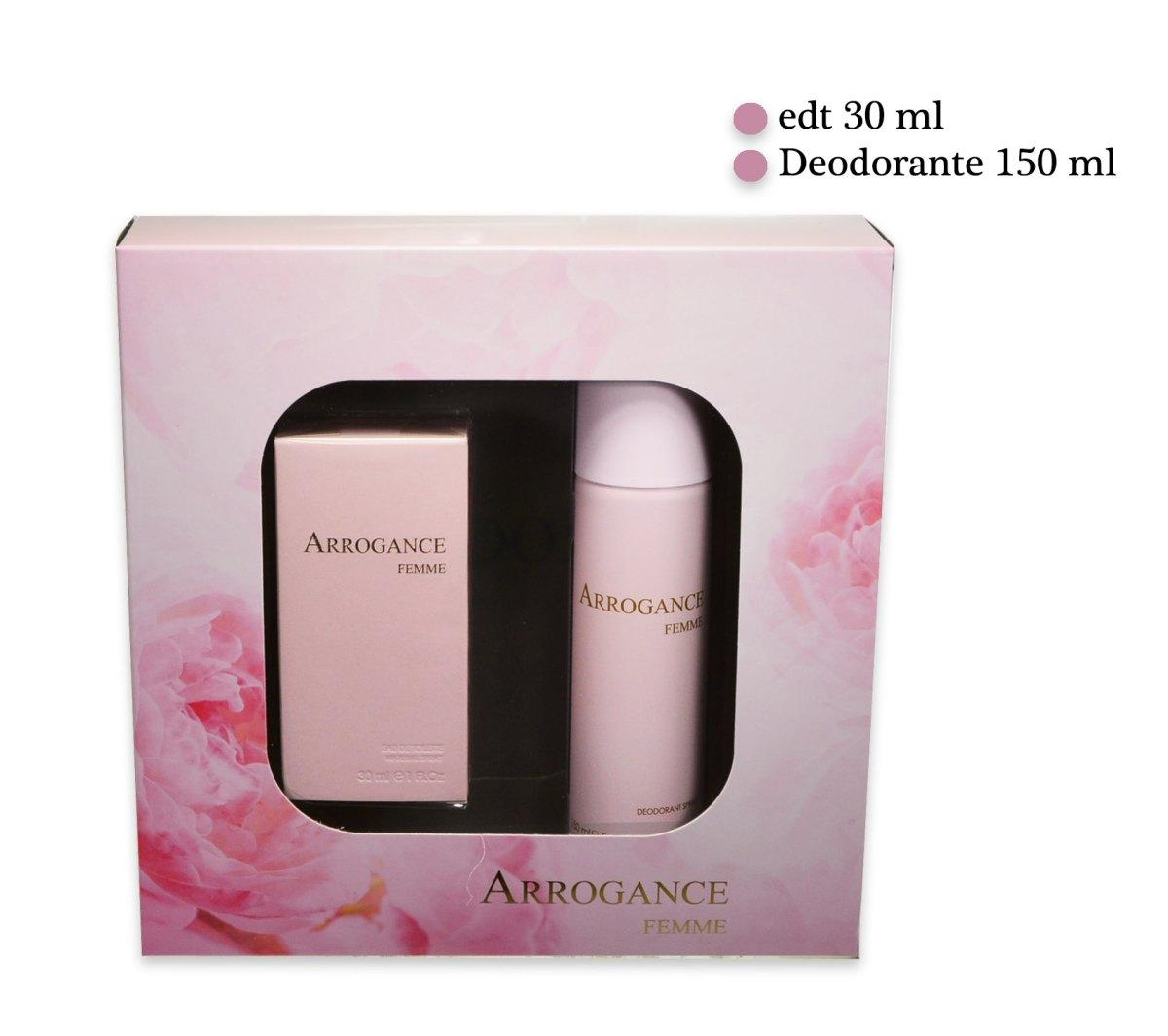 ARROGANCE FEMME KIT CONFEZIONE EDT 30 ml DEO SPRAY 150ml