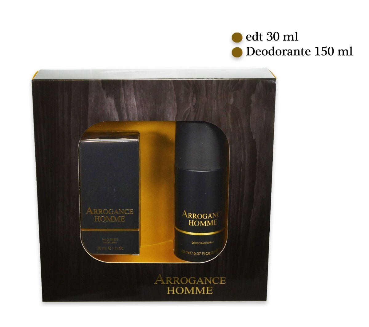 ARROGANCE HOMME KIT CONFEZIONE EDT 30ml DEO SPRAY 150ml