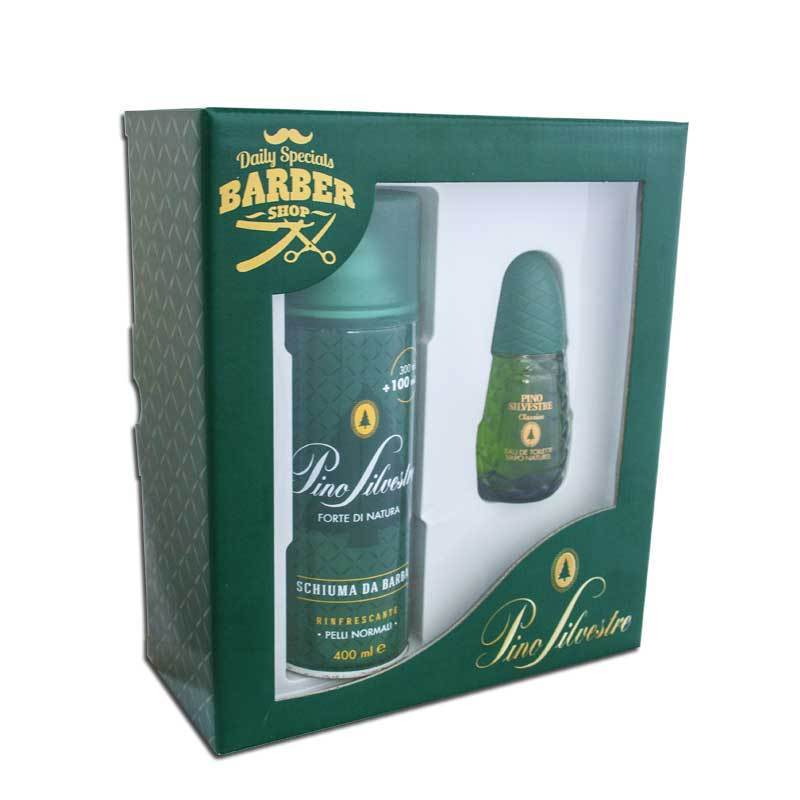 PINO SILVESTRE BARBER SHOP SET EAU DE TOILETTE EDT 75ml SCHIUMA DA BARBA 400 ML