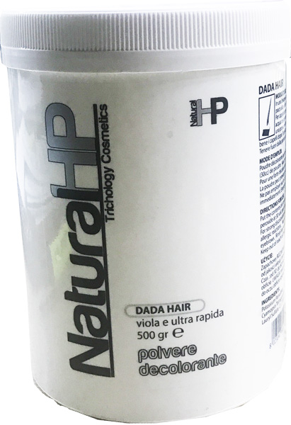 NATURAL HP DADA HAIR POLVERE DECOLORANTE VIOLA ULTRA RAPIDA 500gr
