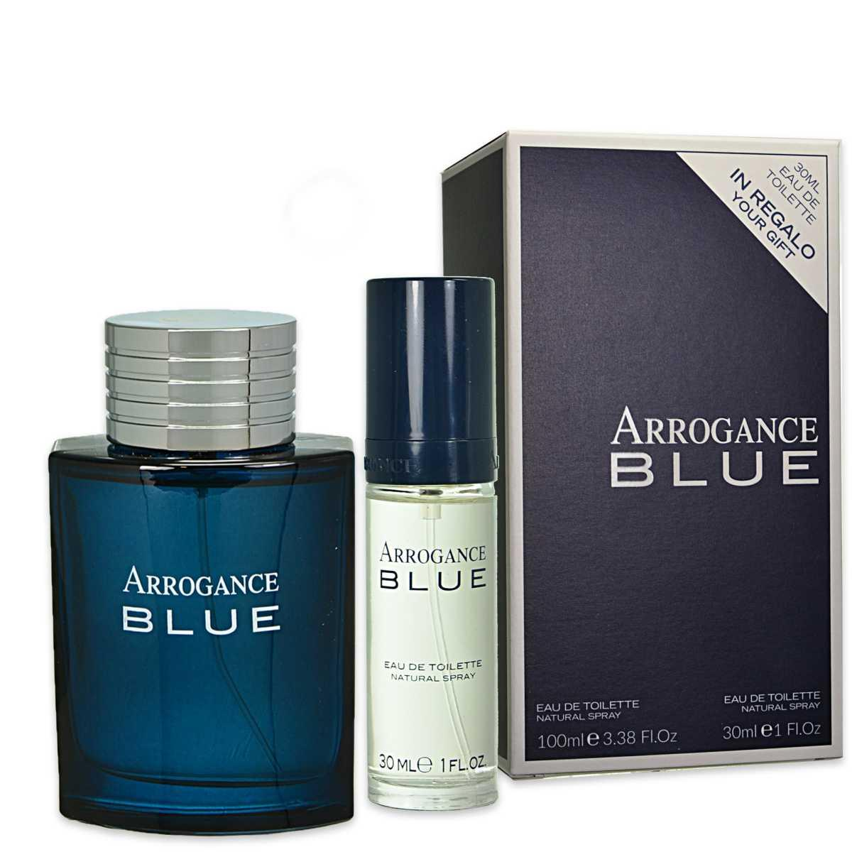ARROGANCE BLUE EDT EAU DE TOILETTE 100ml E 30ml IN REGALO PROFUMO UOMO