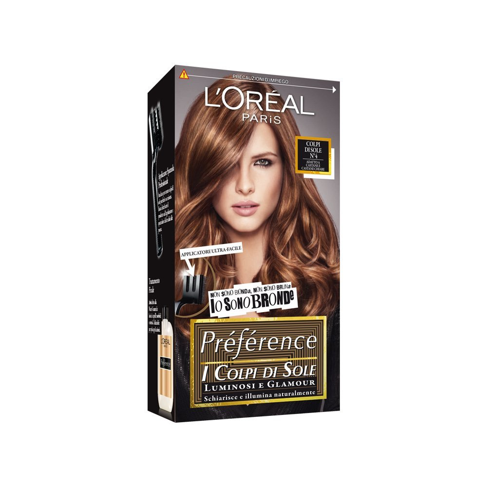 L'OREAL PARIS PREFERENCE COLPI DI SOLE CAPELLI LUMINOSI E GLAMOUR N4