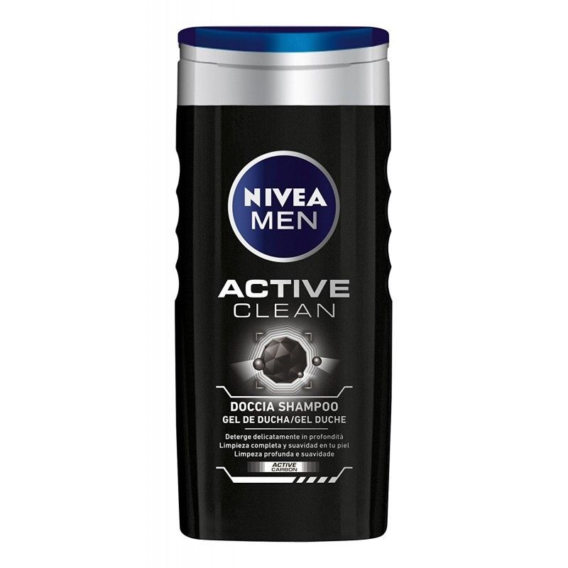 NIVEA MEN ACTIVE CLEAN DOCCIA SHAMPOO CON CARBONI ATTIVI 250 ML