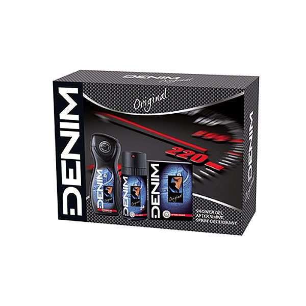 DENIM ORIGINAL CONFEZIONE SHOWER GEL 250 ML AFTER SHAVE 100 ML DEO SPRY 150 ML