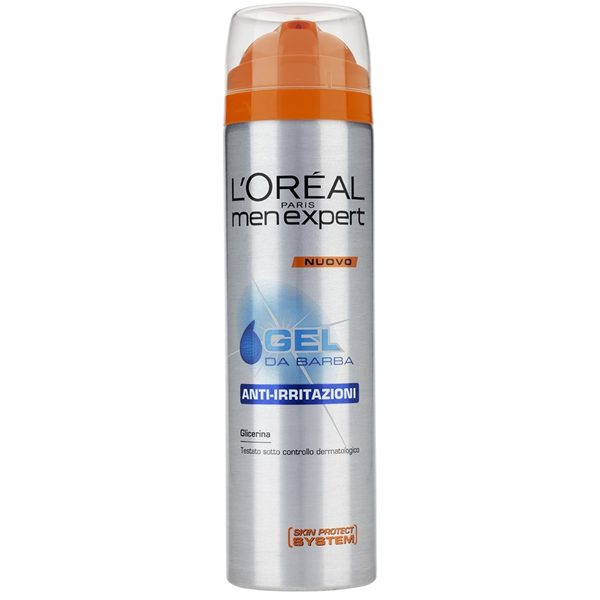 L OREAL GEL DA BARBA ANTI IRRITAZIONE PER RASATURA MEN EXPERT PELLI SENSIBILI 200 ML