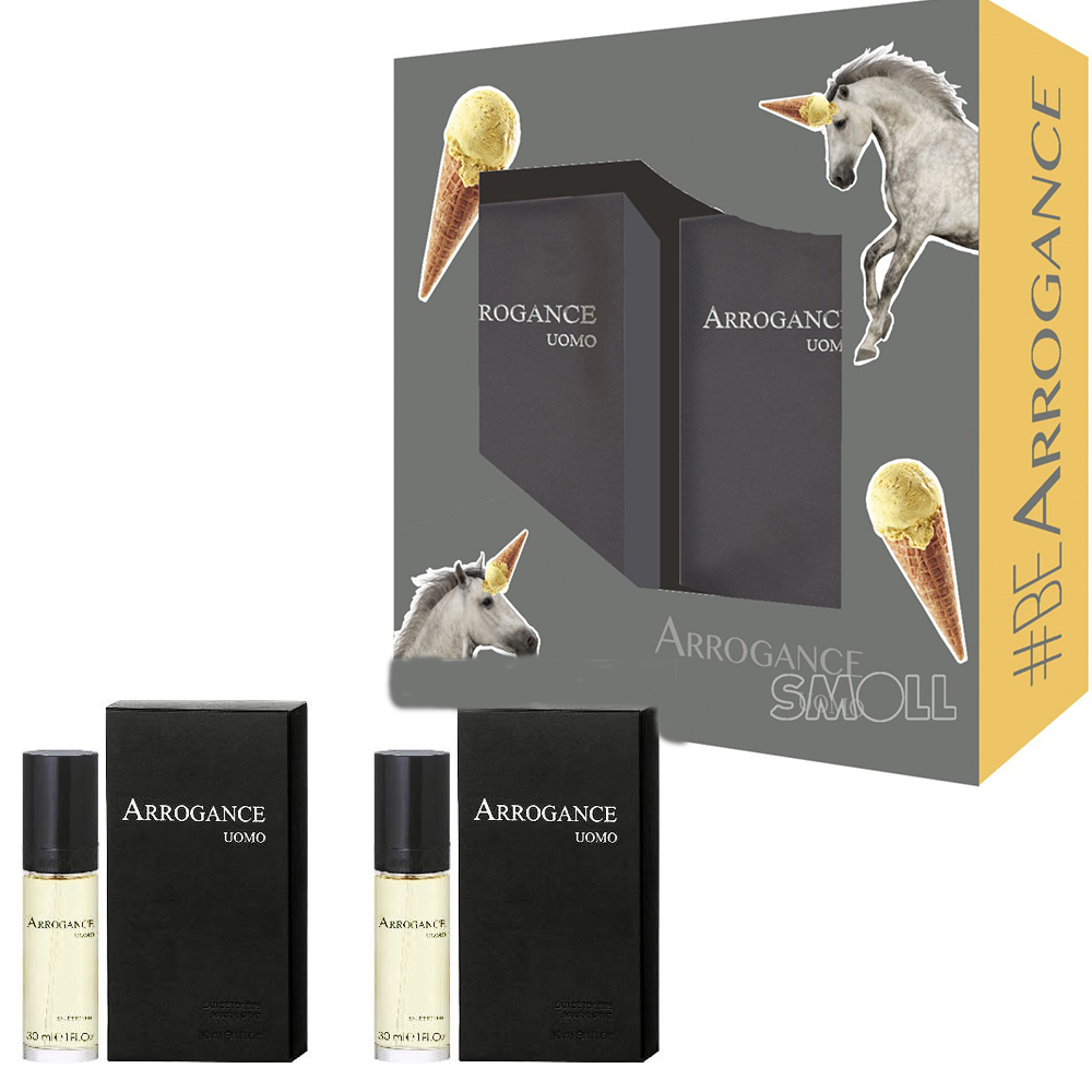 Arrogance Uomo Confezione Profumo Edt Eau De Toilette Spray 30 Ml Dopobarba 30 Ml
