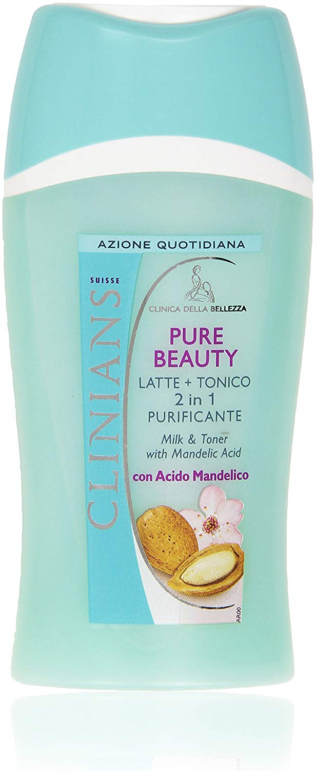 CLINIANS PURE BEAUTY LATTE DETERGENTE PIU TONICO 2 IN 1 STUCCANTE VISO OCCHI PURIFICANTE 200 ML