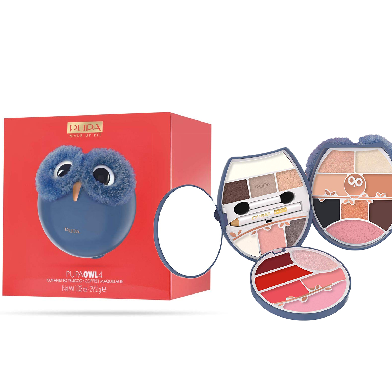 COFANETTO TRUCCHI PUPA OWL4 002 MAKE UP KIT GUFO GUFETTO GRANDE