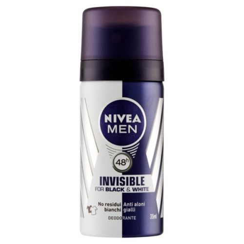 NIVEA MINI SIZE DEODORANTE SPRAY BLACK E WHITE INVISIBLE 48H 35 ML
