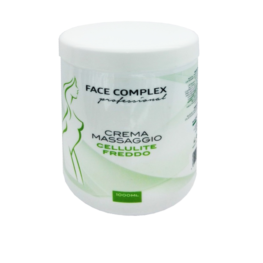 FACE COMPLEX CREMA MASSAGGIO TERMOATTIVA A FREDDO ANTI CELLULITE DRENANTE 1000ML