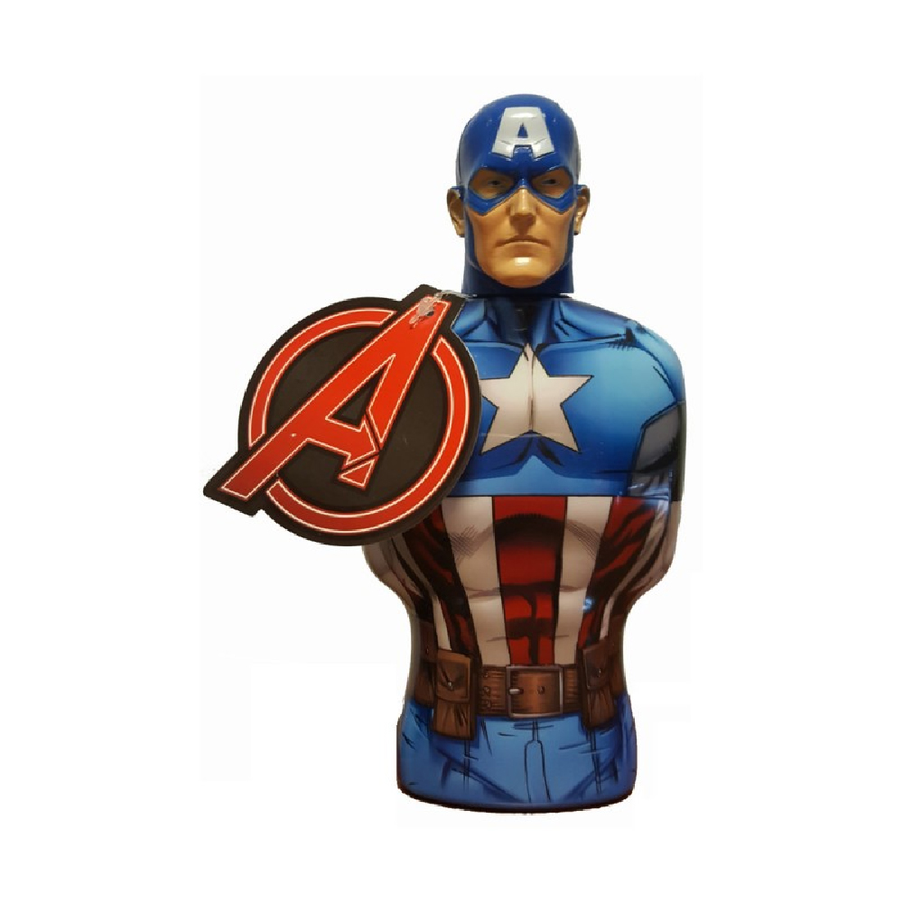 MARVEL AVENGERS GEL DOCCIA SHOWER GEL CAPTAIN AMERICA BUSTO 3D 350 ML