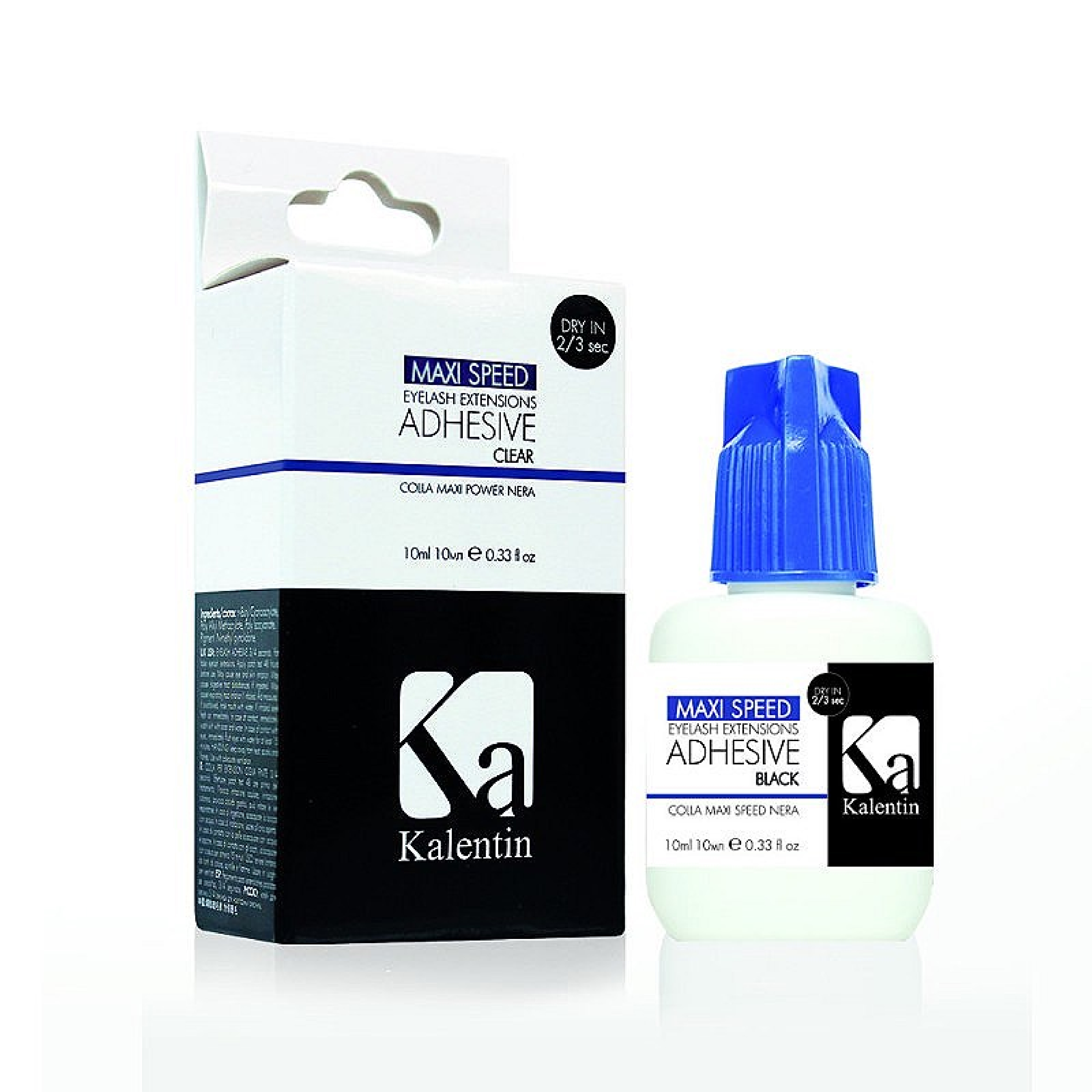 KALENTIN COLLA EXTENSION CIGLIA MAXI SPEED NERA ASCIUGA IN 2/3 SEC 10 ML