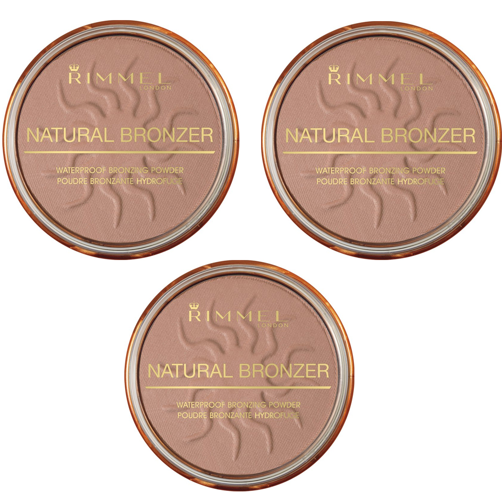 RIMMEL NATURAL BRONZER TERRA ABBRONZANTE WATERPROOF SPF 15 026 SUN KISSED 3 PZ 14 G