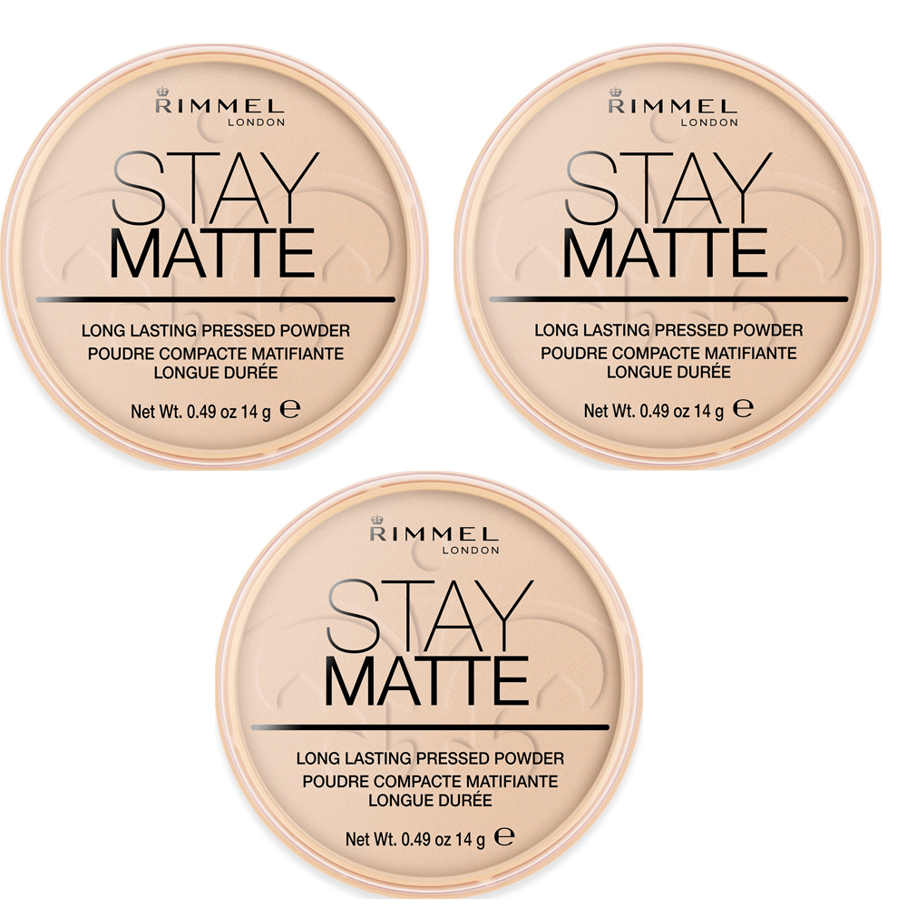 RIMMEL CIPRIA COMPATTA PER VISO STAY MATTE POWDER 010 WARM HONEY 3 PZ 14 G