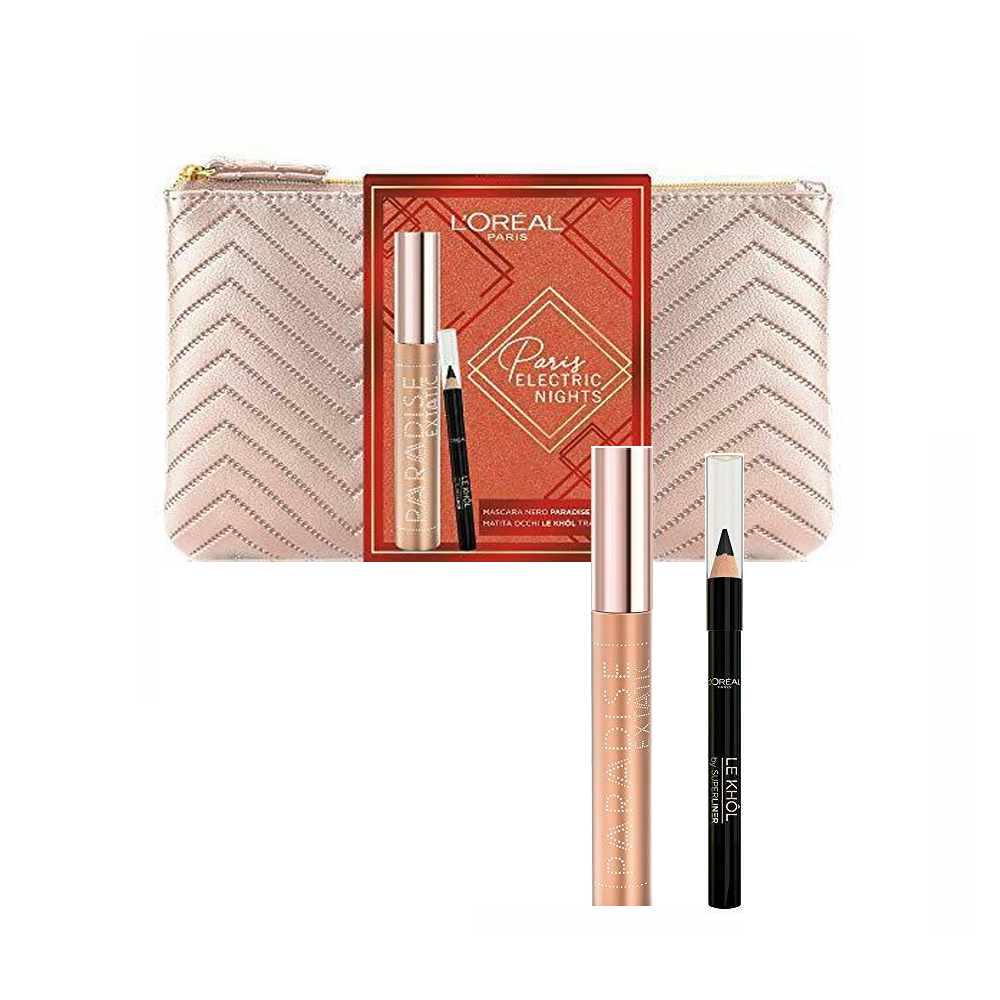 L'OREAL SET PARIS ELECTRIC NIGHTS MASCARA PARADISE EXTATIC MATITA OCCHI LE KHOL POCHETTE BRONZO