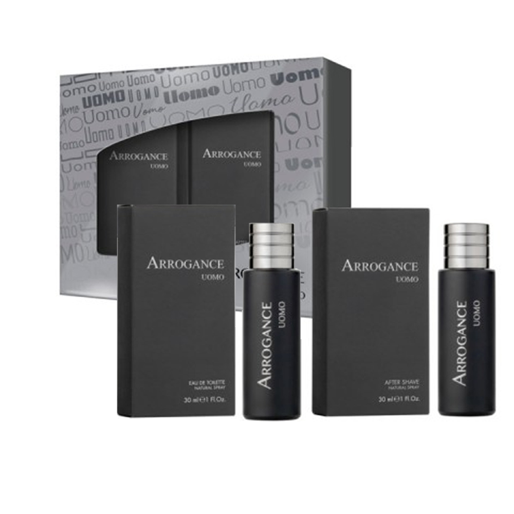 ARROGANCE UOMO PROFUMO UOMO EDT EAU DE TOILETTE NATURAL SPRAY E DOPOBARBA NATURAL SPRAY 30ML