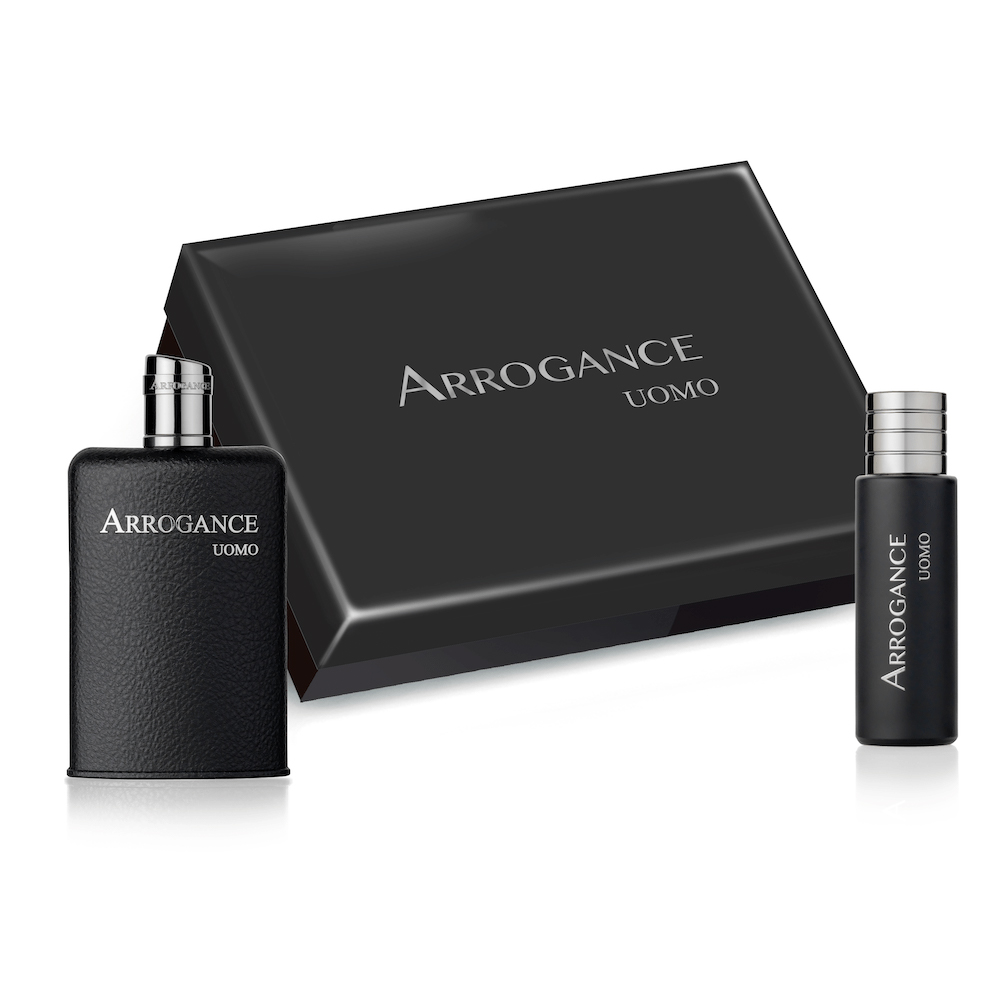 ARROGANCE UOMO SET PROFUMO UOMO EDT EAU DE TOILETTE 100 ML PIU EDT 30 ML