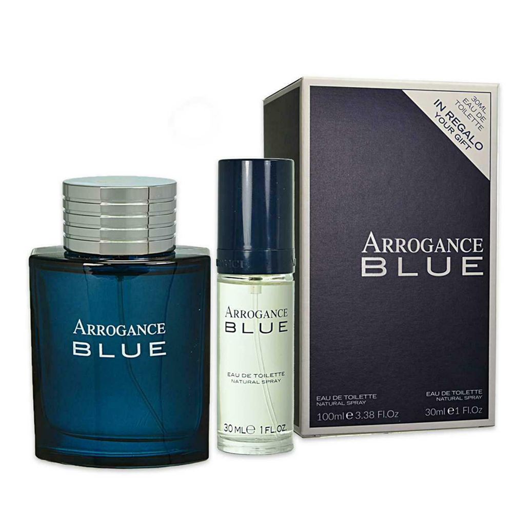Arrogance Blue Profumo Uomo Edt Eau De Toilette 100 Ml Piu 30 Ml In Regalo