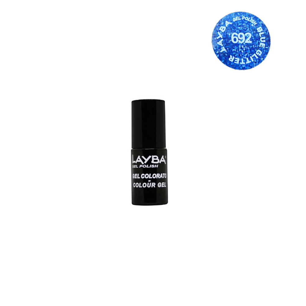 Layla Layba Smalto Gel Polish Uv Per Unghie Semipermanente Blue Glitter 692 5 Ml