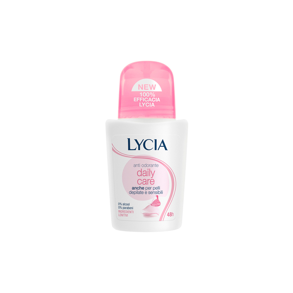 Lycia Daily Care Deodorante Roll On Anti Odorante Pelli Depilate E Sensibili Senza Alcool 75 Ml