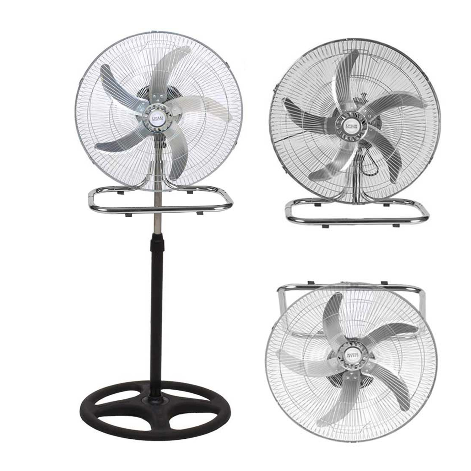 Coveri Collection Ventilatore In Acciaio 3 In 1 Con Pale In Alluminio