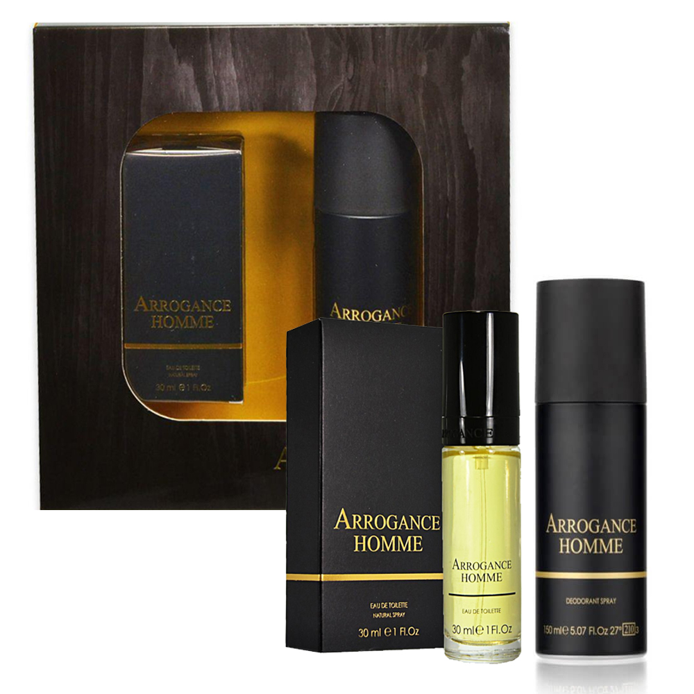 Arrogance Homme Profumo Uomo Edt Eau De Toilette 30 Ml Deodorante Spray 150 Ml