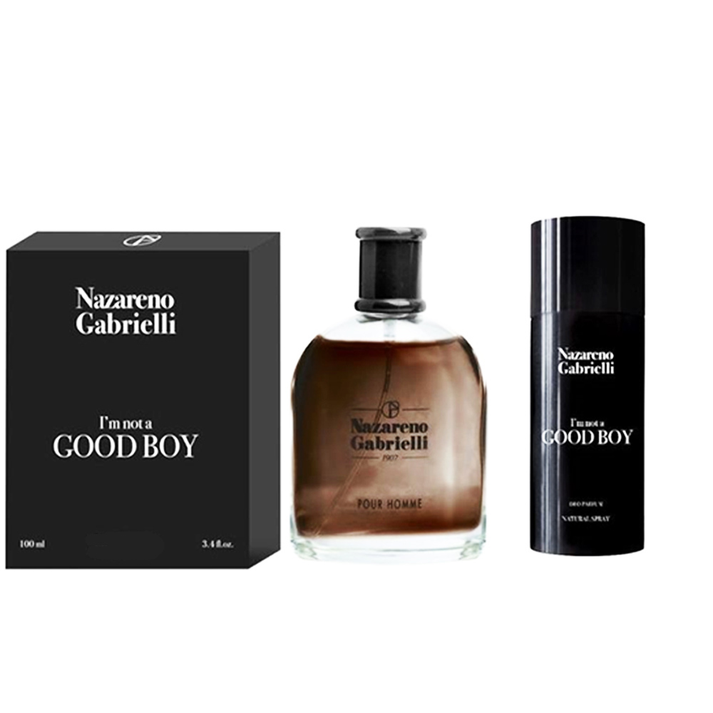 Confezione Regalo Uomo Nazareno Gabrielli I'm Not a Good Boy Aftershave piu' Deo