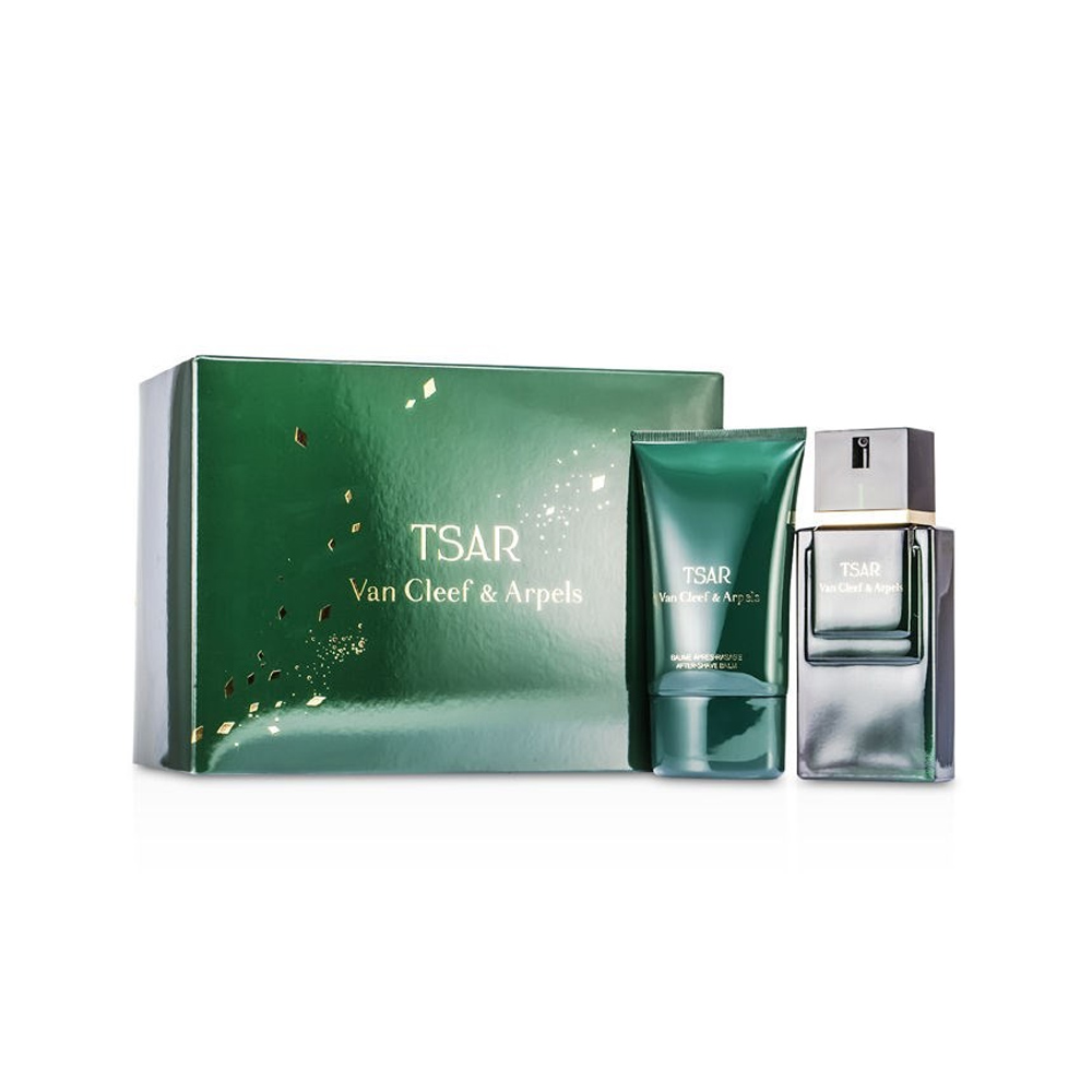 Set Regalo Uomo Van Cleef e arpels Tsar Edt Spray 100ml piu' Balsamo Aftershave 100ml