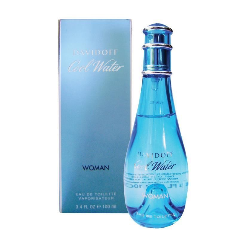 DAVIDOFF COOL WATER WOMAN EAU DE TOILETTE PROFUMO DONNA 100 ml ORIGINALE