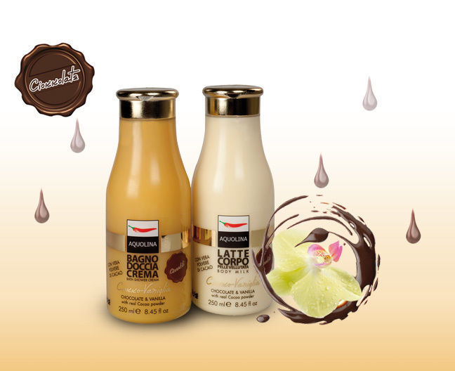 Bagno Doccia Aquolina : Aquolina ciokkolate bagno doccia crema ciokko vaniglia 250 ml ebay