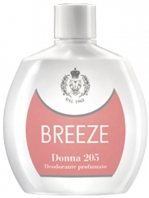 BREEZE SQUEZEE DEODORANTE PROFUMATO DONNA 205 NO GAS PELLI DELICATE 100 ml