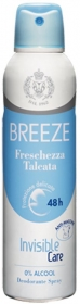 BREEZE DEODORANTE FRESCHEZZA TALCATA SPRAY INVISIBLE CARE NO ALCOL 48h 150ml
