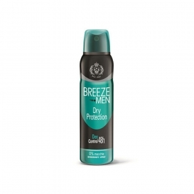 BREEZE MEN DRY PROTECTION DEO CONTROL 48h DEODORANTE 150ml
