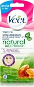 Veet Natural Inspiration 16 Strisce Depilatorie Viso Con Olio Di Argan