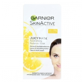 GARNIER JUICY MASK MASCHERA MONODOSE ILLUMINANTE ESFOLIANTE PELLI SPENTE 8ml