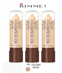 KIT 3 PZ RIMMEL HIDE THE BLEMISH CORRETTORE IN STICK 4,5g 105 GOLDEN BEIGE