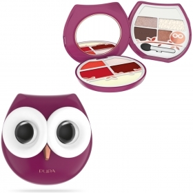 COFANETTO PUPA TROUSSE OWL2 GUFO GUFETTO MAKE UP KIT OMBRETTI ROSSETTI GLOSS PRIMER