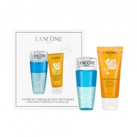 LANCOME KIT STRUCCANTE BIFASICO 75 ML E MOUSSE DETERGENTE IN MIELE 50 ML