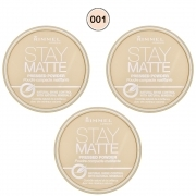 Rimmel Stay Matte Powder Cipria CompattaTransparent 001 3 x 14 Gr