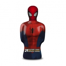 MARVEL SPIDERMAN BUSTO IN 3D 2 IN 1 BAGNOSCHIUMA E SHAMPOO PER BAMBINI 350 ml