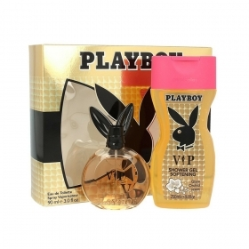 PLAYBOY VIP SET PROFUMO DONNA EDT EAU DE TOILETTE SPRAY 90ML PIU GEL DOCCIA 250 ML