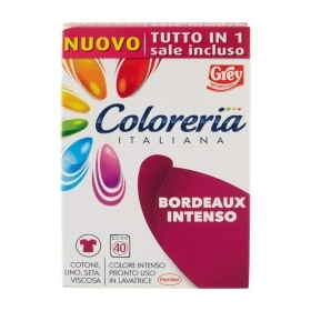 COLORERIA ITALIANA GREY TUTTO IN 1 COLORANTE PER TESSUTI BORDEAUX INTENSO 350g