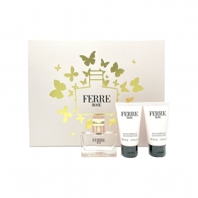 FERRE ROSE SET PROFUMO DONNA EDT EAU DE TOILETTE NATURAL SPRAY 30 ML PIU BAGNO E DOCCIA GEL 2 X 30 ML