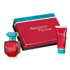 ARROGANCE PASSION PROFUMO DONNA EDT EAU DE TOILETTE 50 ML LATTE PROFUMATO CORPO 100 ML CONFEZIONE