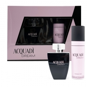 AQUADI DREAM SET PROFUMO DONNA EDT EAU DE TOILETTE NATURAL SPRAY 100 ML DEODORANTE 150ML INSPIRATO A RODRIGUEZ